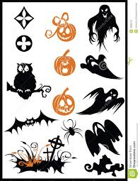 design elements on a halloween theme royalty free stock