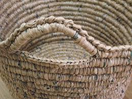 Make A Laundry Hamper by Plarn Laundry Basket New Life New Purpose