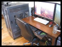 long gaming desk project thief caselabs tx10 d dual workstation gaming build