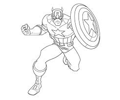 America Coloring Pages Captain America Coloring Page