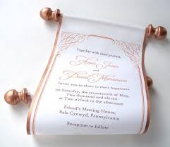 scroll invitations fabric scroll invitations artful beginnings