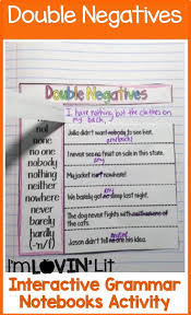 Fourth Grade Language Arts Worksheets 21 Best Double Negatives Images On Pinterest Double Negative