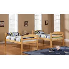 twin over twin solid natural wood bunk bed free shipping today