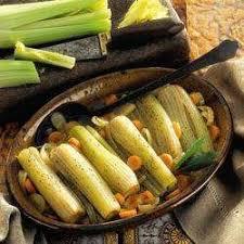 comment cuisiner le celeri recette cœurs de céleri braisés toutes les recettes allrecipes
