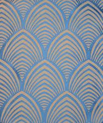 Papier Peint Art Nouveau Tissu Art Deco Edo Thévenon Motif Art Deco Art Déco Motifs Et