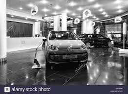 volkswagen black car dealer selling volkswagen black and white stock photo