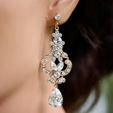 gold bridal earrings chandelier gold bridal earrings wedding earrings deco