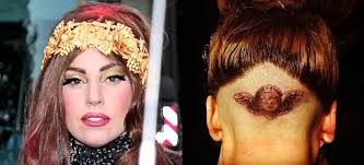 lady gaga gets new tattoo on her shaved head at fame masquerade party