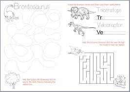 free printable u2013 dinosaur writing u0026 fine motor skills