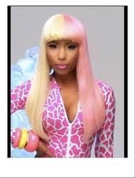 nicki minaj super bass wig costume yellow pink fashion