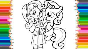 mlp equestria girls sweetie belle coloring book l coloring pages