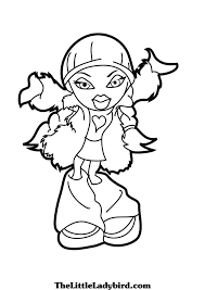 free bratz coloring pages thelittleladybird