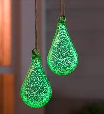 glowing teardrop glass garden ornament wind weather