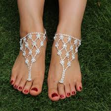 new jewsun rhinestone foot or hand jewelry barefoot sandals
