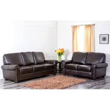 Abbyson Leather Sofa Reviews Abbyson Living Ch 1918 Brn 3 2 Newcastle Top Grain Leather Sofa