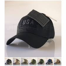 Military Flag Patch American Flag Baseball Hat Ebay