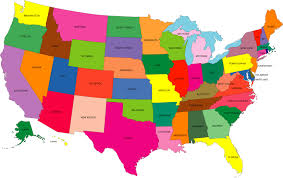 us map states by color map usa color major tourist attractions maps filemap of