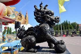 qilin statue headed unicorn called qilin or kylin statue stock photo