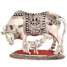 silver gift items and calf 12 inches statue
