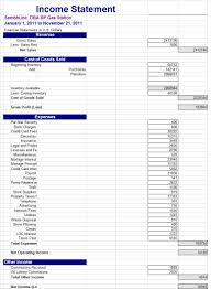 Income Statement Template In Excel by Income Statement Template Vnzgames