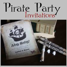 just sweet and simple pirate party invitations