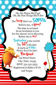 dr seuss baby shower invitations dr seuss baby shower invitation dr seuss invitations dr