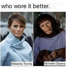 Michelle Obama Meme - 25 best memes about melania trump michelle obama melania