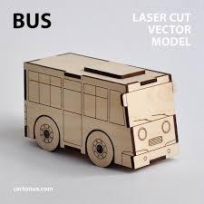 bus u0026 garage wooden toys vector models for laser cut instant