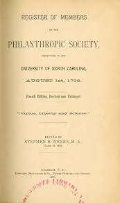 Barnes Dulaney Perkins University Of North Carolina 1793 1962 Philanthropic Society