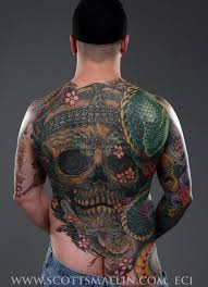 Back Pieces Tattoos 30 Back Skull Tattoos