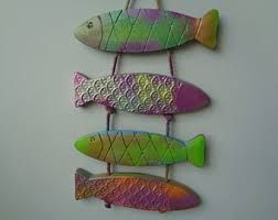 Wall Decor Bathroom Fish Wall Decor Etsy
