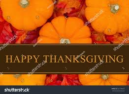 happy thanksgiving greeting some pumpkins fall stock photo