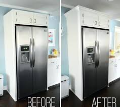 gap between fridge and cabinets gap between refrigerator and cabinet how to add crown molding to the