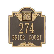 monogram plaques whitehall products monogram standard wall square bronze gold 2