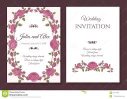 Wedding Invite Card Stock Vector Floral Wedding Invitation Card With Frame Of Pink Roses
