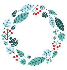 christmas retro holiday wreath isolated on white vector art