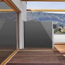 balkon sichtschutz neu seitenmarkise 300x160cm balkon sichtschutz sonnenschutz