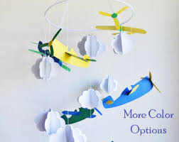 airplane mobile airplane baby mobile airplane nursery decor