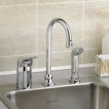 single kitchen faucet monterrey single gooseneck kitchen faucet with remote