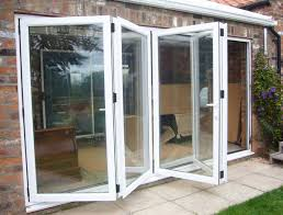 Collapsible Patio Doors Four Pane Aluminium Folding Bi Fold Door With Modern Style Folding