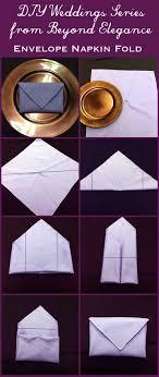 how to fold napkins for a wedding diy weddings envelope napkin fold beyond elegance