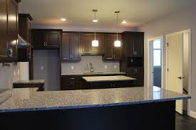 dark floors with dark kitchen cabinets wood floors