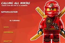 free printable lego ninjago birthday invitation drevio