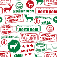 pole reindeer and green wrapping paper bedding
