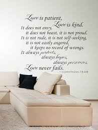 religious wall decals corinthians verse wall decals by patient love is patient