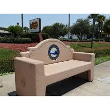 Concrete Table And Benches Personalized Memorial Benches For Parks And Schools