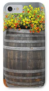 wine barrel planter photograph by david buffington