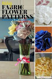 Fake Flowers My Camera My 25 Easy Fabric Flower Patterns Allfreesewing Com