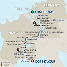 Lyon France Map 16 Day Avalon River Cruise From Amsterdam To Côte D U0027azur 2018