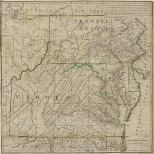 A Map Of Virginia by Virginia A Map Of The Country Between Albemarle Sound And Lake